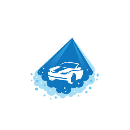 car body power cleaning and washing service vector logo design template 向量圖像