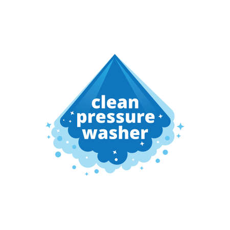 water pressure washing and cleaning service vector logo design template Ilustração