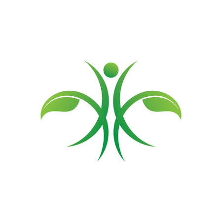 organic traditional herb medicine health care method vector logo design template Иллюстрация