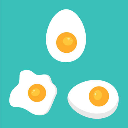 sunny side up and soft boiled egg vector logo design illustration template