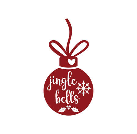 jingle bells ball decoration vector christmas theme for print template