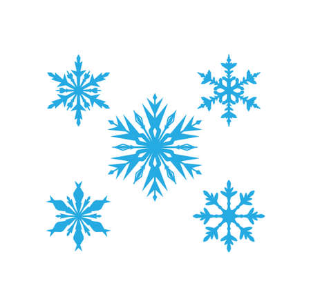 blue unique detailed and gorgeous snowflake vector christmas theme for print template Иллюстрация