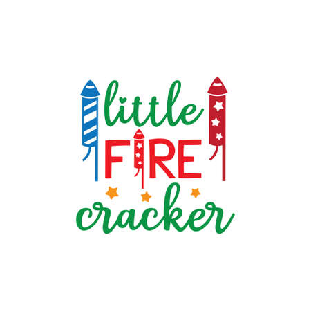 little fire cracker family baby and kid funny pun vector graphic design for cutting machine craft and print template Иллюстрация