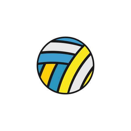 volley ball equipment illustration vector design template on white background