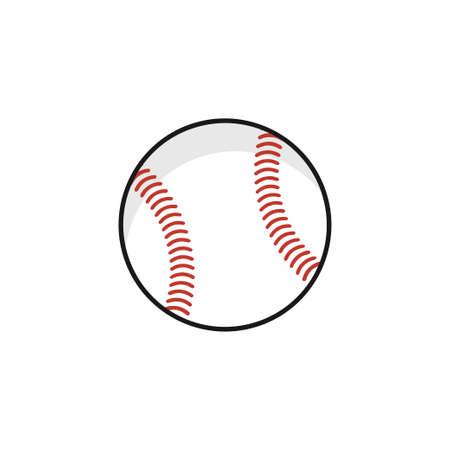 soft ball equipment illustration vector design template on white background Stock Illustratie