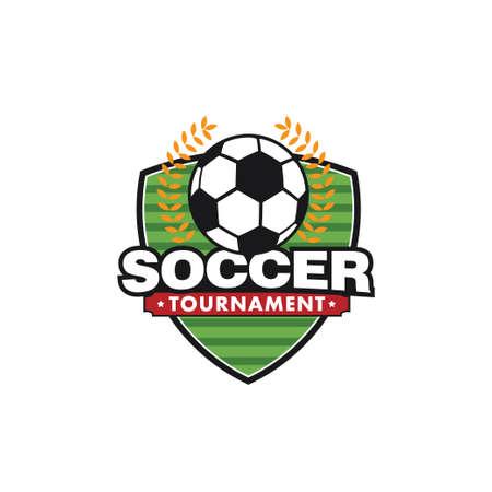 soccer sport emblem for squad club badge vector logo design template