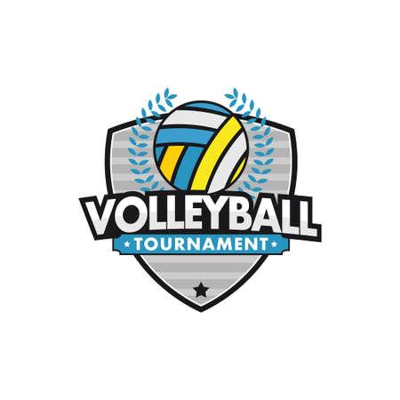 volleyball sport emblem for squad club badge vector logo design template Stock Illustratie