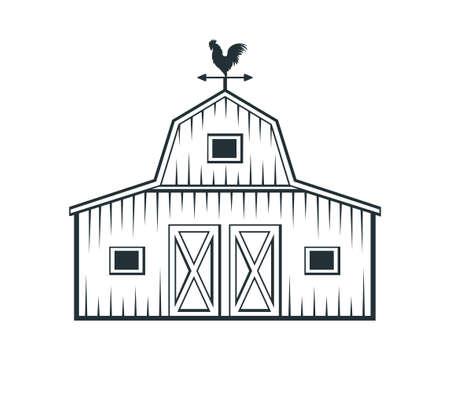backyard barn farm house storage hangar vector logo design template
