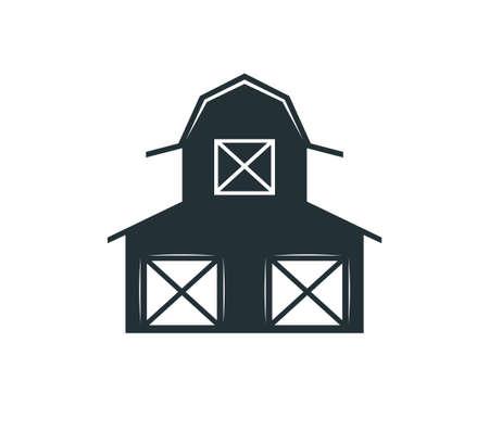 backyard barn farm house storage hangar vector logo design template Vettoriali