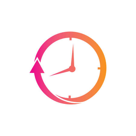 hours time duration clock vector logo design concept template