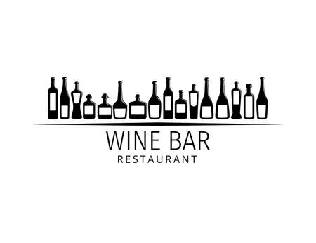assorted wine bottle vector logo design template for winery restaurant and shop Logo