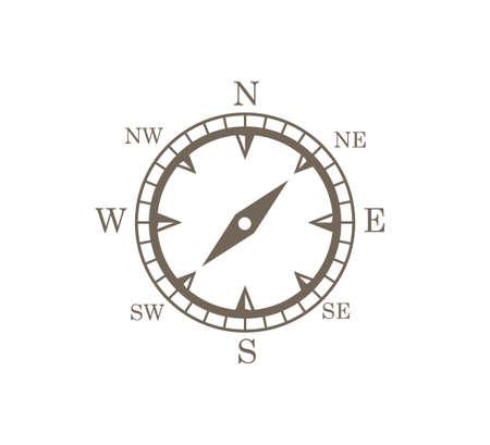 compass rose wind direction navigation position vector graphic design illustration template Ilustración de vector