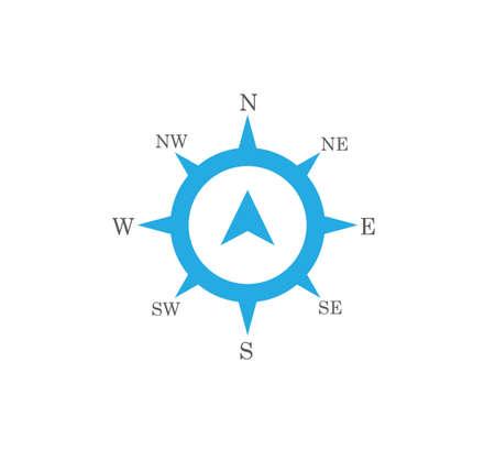 compass rose wind direction navigation position vector graphic design illustration template