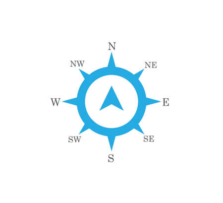 compass rose wind direction navigation position vector graphic design illustration template