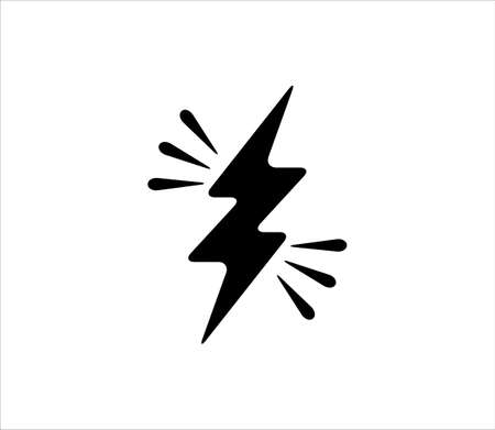 electricity power symbol or icon vector design template, high voltage electric shock danger sign illustration