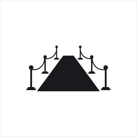 red carpet way or catwalk celebrity show simple flat vector illustration template Illustration