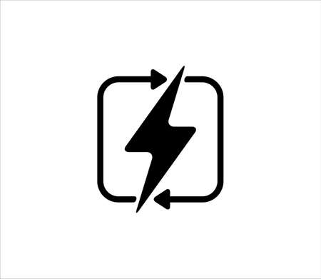 renewable electric power source icon sign or symbol vector design template Иллюстрация