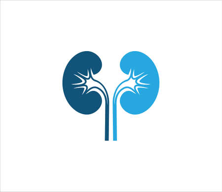 simple flat kidney vector logo design template for health medical treatment business