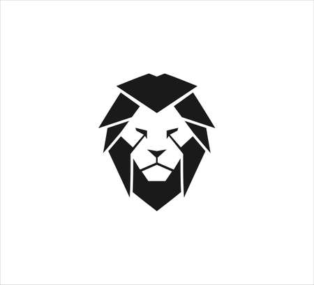 majestic lion head vector icon logo design template symbol of luxury, strength, royal kingdom and dominance