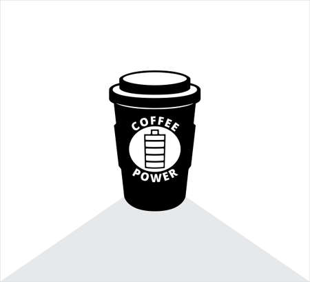 coffee paper cup vector icon logo illustration design for banner coffee store shop