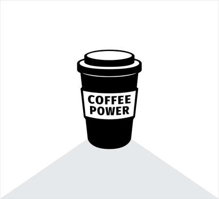 coffee paper cup vector icon logo illustration design template for banner coffee store shop