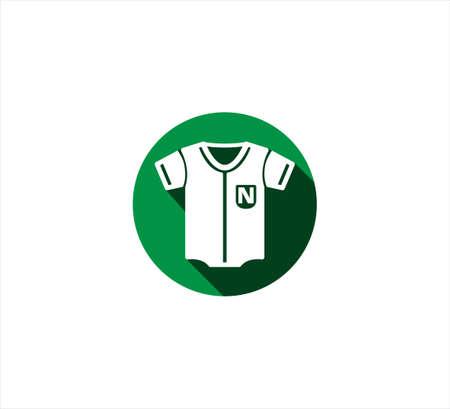 baseball shirt uniform vector icon logo design template for mobile application or website button
