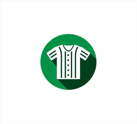 strip baseball shirt uniform vector icon logo design template for mobile application or website button