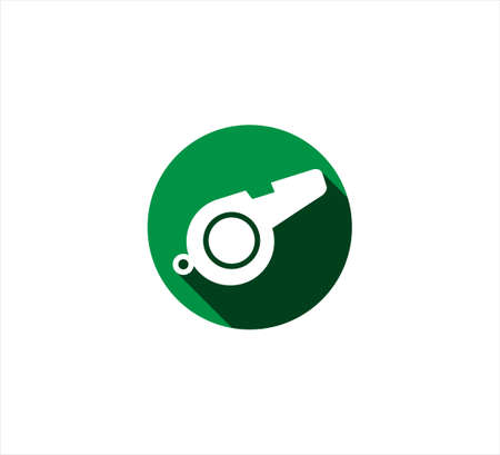 green whistle baseball sport vector icon logo design template for mobile application or website button Ilustrace