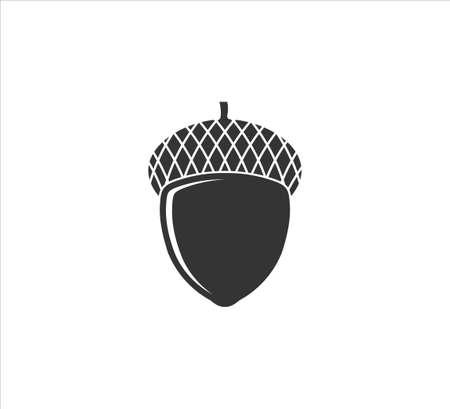 single acorn nut oak fruit vector  design template symbol of fertility Banco de Imagens - 151702387