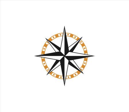 compass adventure direction navigator vector logo design template Stock Illustratie