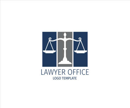 scale of justice for lawyer office vector logo design template
