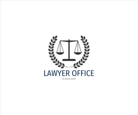 scale of justice inside wheat ear for lawyer office vector logo design