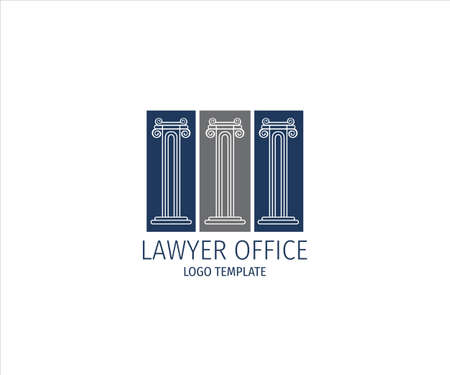 pillar of justice for lawyer office vector logo design template