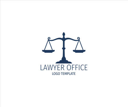 scale of justice a symbol of fair equation for lawyer office vector logo design template