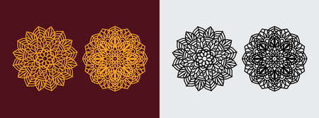 mandala art pattern vector template design for paper cutting, greeting card, sublimation printing and more