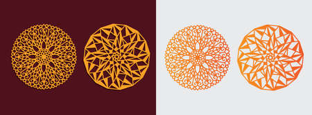 mandala diamond theme art pattern vector template design for paper cutting, greeting card, sublimation printing and more