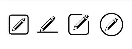 pencil icon set vector illustration. simple pencil flat icon button edit symbol.
