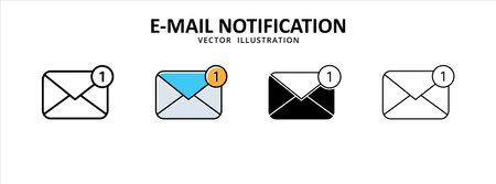 inbox, mail, email, envelope, message unread icon vector illustration simple flat design