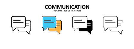 bubble chat message talk conversation vector icon illustration design