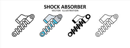 shock absorber suspension vector icon design. car motorcycle spare part replacement service.