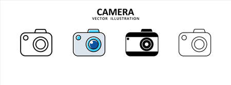 camera icon photography simple design. social media take picture illustration