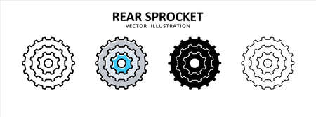 transmission gear ratio reduction vector icon design. car motorcycle spare part replacement service. 矢量图像