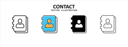contact phone book profile icon vector illustration simple flat design