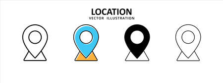 map pin location share point icon vector illustration simple flat design