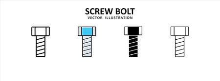 screw bolt vector icon design. car motorcycle spare part replacement service.