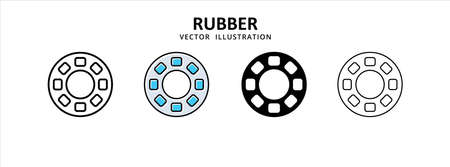 rubber driver pull reduction vector icon design. car motorcycle spare part replacement service. 矢量图像