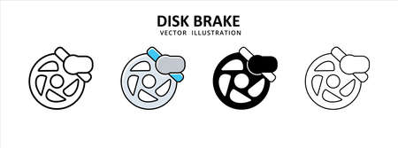 disc brake vector icon design. car motorcycle spare part replacement service.