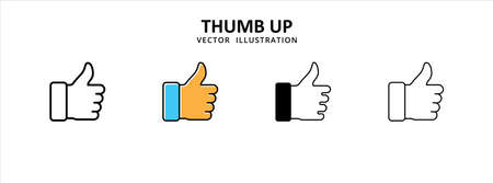 hand thumb up icon vector illustration simple flat design. symbol of agreed, like or appreciation