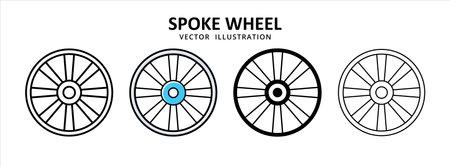 spoke wheel velg tire vector icon design. car motorcycle spare part replacement service. 矢量图像