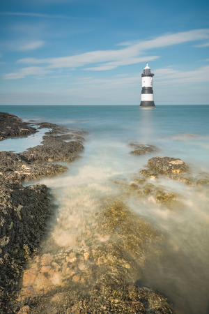 Penmon Point lighthouse on the island of Anglesey in North Wales.